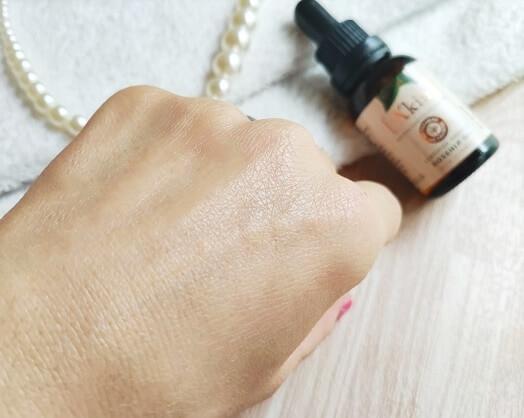 エイキン「美容オイルRHC」オイルの色・香り・テクスチャー