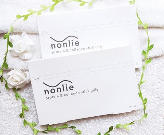 nonlie『ノンリ』プロテイン&コラーゲンゼリーの箱